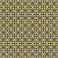Coordinated Cottons - Navy on Yellow Damask