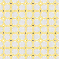 Coordinated Cottons - White on Yellow Modern Dots