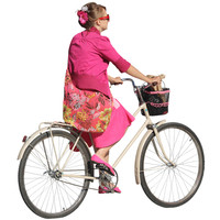 Colorful Cyclist