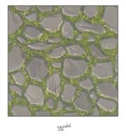 Grassy Stone Road Tile