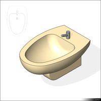 Bidet Wall Mounted 01450se