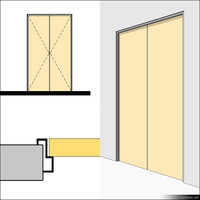 Door Swing Double Metal 01496se