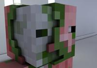 Cinema 4D Minecraft Zombie PigMan Rig