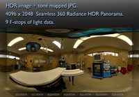OPERATING ROOM WITH TABLE - LIGHTS ON - 360 HDR PANORAMA # 121
