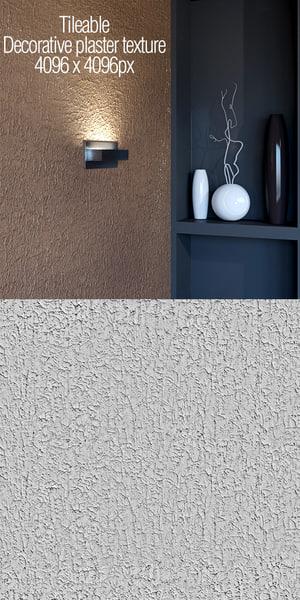 Tileable decorative plaster texture
