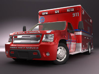 Emergency Ambulance truck