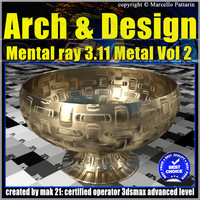 Arch e Design Collection Vol.2 Mental ray 3.11 Metal