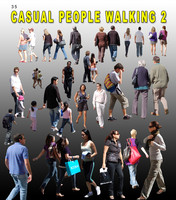 Casual peope walking 2