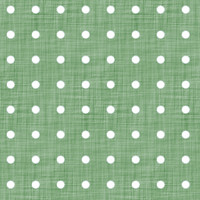 Coordinated Cottons - White on Green Polka-Dots