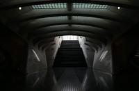 Train platform stairway
