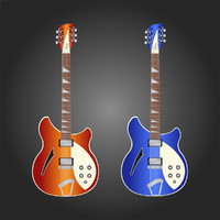 Vector Stock: Rickenbacker Guitars