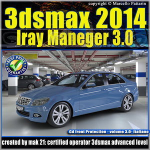 3ds max 2014 Iray Maneger vol 3 Italiano cd front