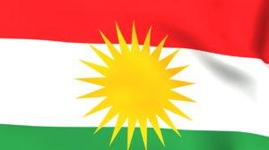 Kurdish Flag Animation