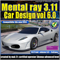 Mental ray 3.11 3dsmax 2014 Vol.6 Car Design cd front