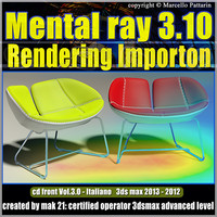 Mental Ray 3.10 3dsmax 2013 Vol.3  rendering Importon cd front