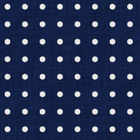Coordinated Cottons - White on Navy Polka-Dots