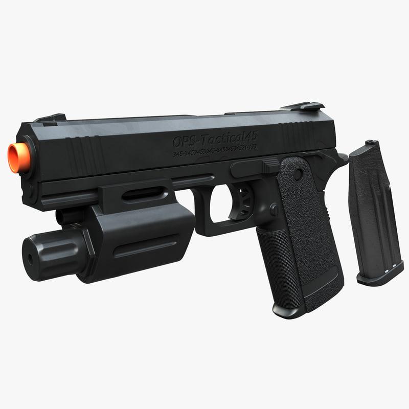 plastic pistol airsoft gun 3d