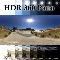 HDR 360 pano Rio ocean beach park6_7k