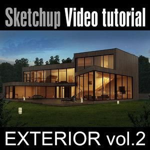 Sketchup Video Tutorial vol. 2 - Exterior