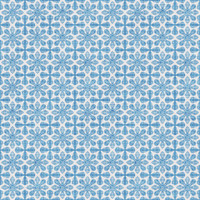 Coordinated Cottons - Blue on White Damask
