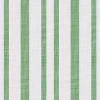 Coordinated Cottons - Green on White Stripes