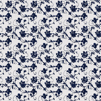 Coordinated Cottons Navy on White Floral