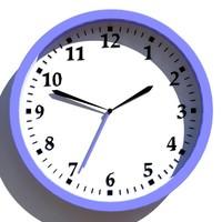 3d model of decorative wall clock