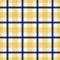 Coordinated Cottons - Navy on Yellow Plaid