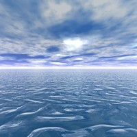 Sea with  Clouds Skybox