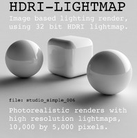HDRI studio simple 006