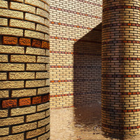 High Resolution Tileable Stripes Brick (4)