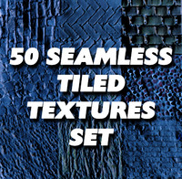 50 Seamless tiled texture set - grass, wall, rock, road, wood, stone, concrete, bricks