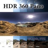 HDR 360 pano Rocks4 ocean beach Rio