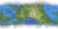 Large Terraformed lunar map