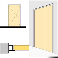 Door Swing Double Metal 01490se