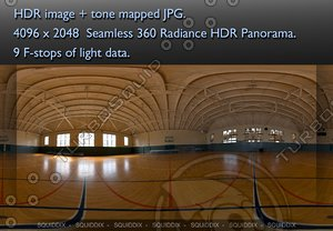 BASKETBALL COURT 360 HDR  PANORAMA #214