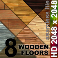 8 x Floor Boards | Tileable | 2048px
