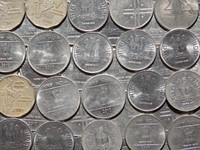 Indian Coins Texture 02
