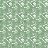 Coordinated Cottons - White on Green Floral