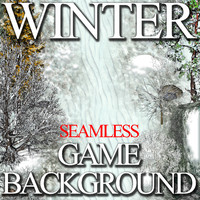 2D Toon and Realistic Winter Game Backgrounds Pack