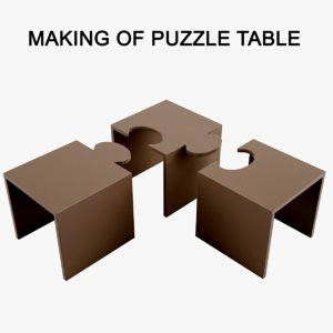 Making Of Puzzle Table