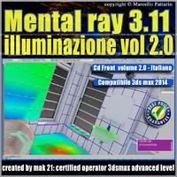 mental ray 3.11 3dsmax 2014 Vol.2 illuminazione Cd front