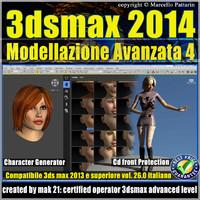 3ds max 2014 Modellazione Avanzata 4 v.26 Italiano cd front