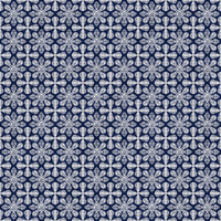 Coordinated Cottons - White on Navy Damask