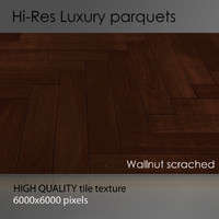 Parquet 001 Wallnut scrached