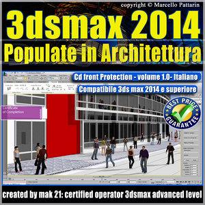 3dsmax 2014 Populate Architettura vol. 1 italiano cd front