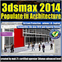 3ds max 2014 Populate Architecture vol.1 English cd front