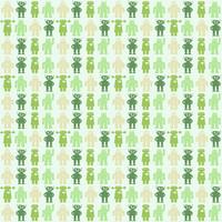 Texture Robot Print Green