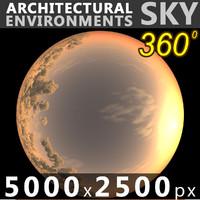 Sky 360 Sunset 025 5000x2500