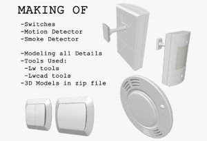 Making Of Motion and Smoke Detector&Switches